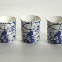 Blackbird Design Tea Light Candle Holder - Set Of Three