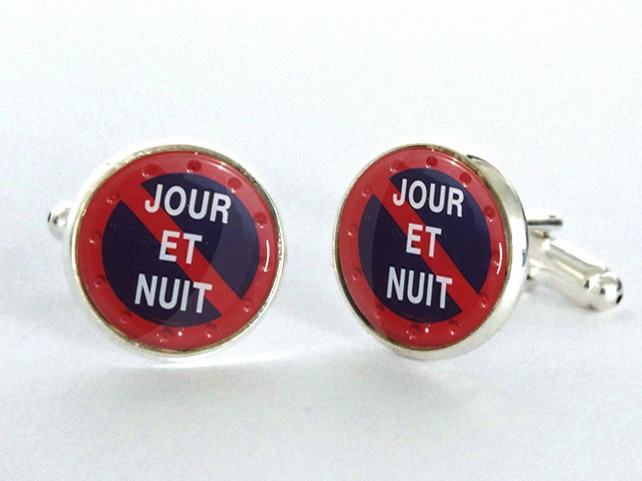 Jour et Nuit Silver Plated Cufflinks