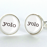 Yolo You Only Live Once Cufflinks - gift for him