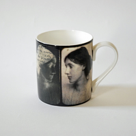 Virginia Woolf Photo Montage Portrait Bloomsbury Group Mug