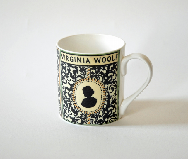 Virginia Woolf Mug Cup - literary Gift, Bloomsbury Group Gift, Writer Gift