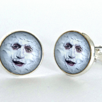 The Moon - The Mighty Boosh Cufflinks - gift for him