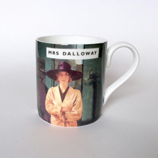 Virginia Woolf - Mrs Dalloway Book Illustration - Bloomsbury Group Mug