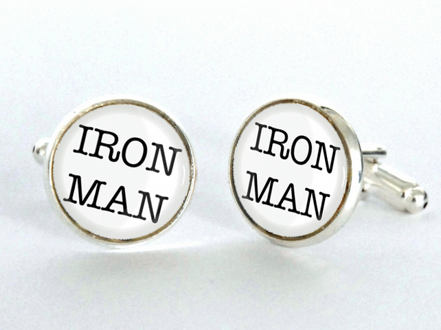 IRON MAN Cufflinks - gift for him