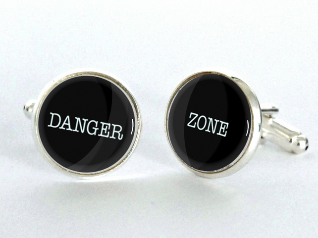 DANGER ZONE Cufflinks - gift for him