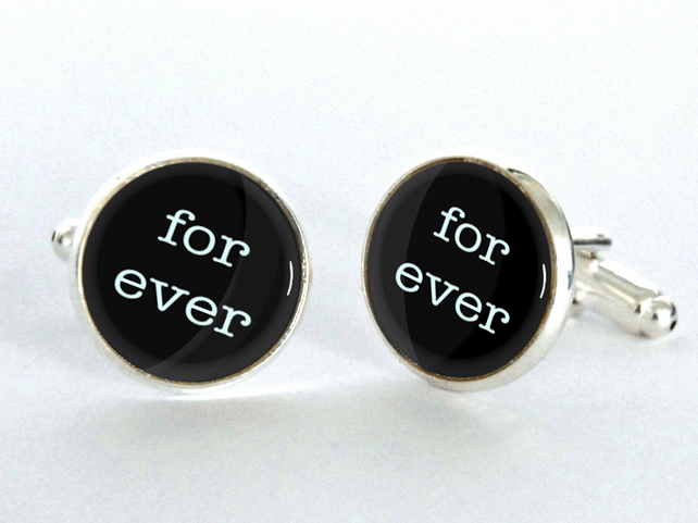for ever and ever Cufflinks - gift for him