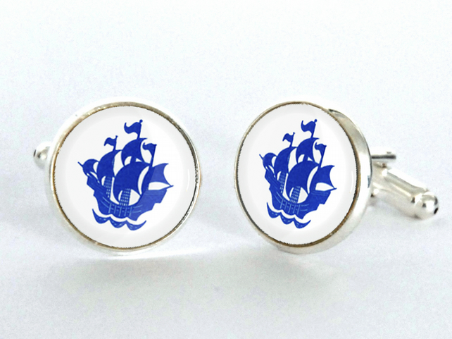 Blue Peter Cufflinks - Vintage Ship Cufflinks -Cool Gift forChristmas