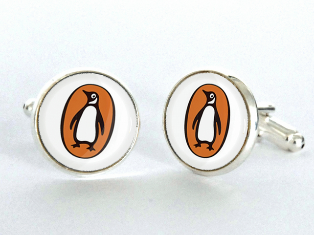 Penguin Books Cufflinks - Up-cycled Mens Fashion Cuff Links- Literary Gift