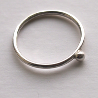 Single Dot Silver Ring