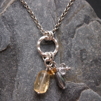 Citrine Expression Necklace.