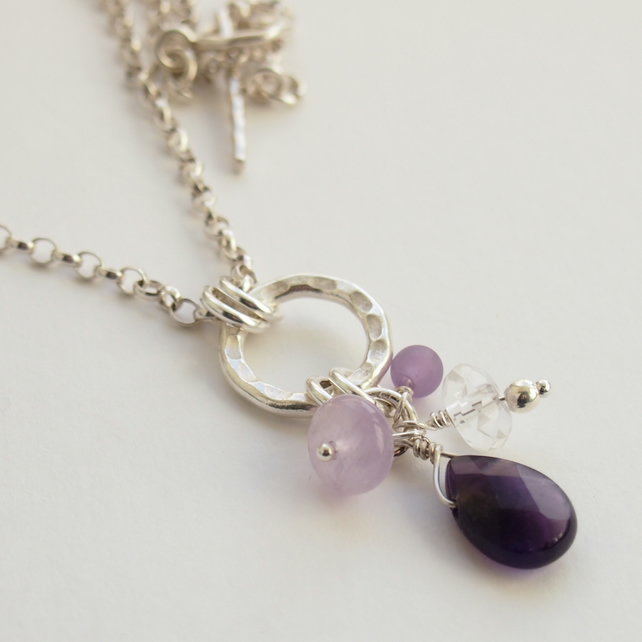 Amethyst Chakra Necklace.