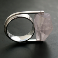 Rose Quartz Rock Ring
