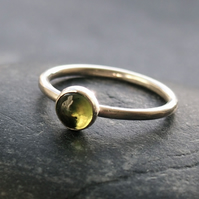Peridot and Sterling Silver Ring.