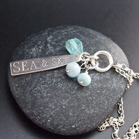 "Silver ""Sea and Sky"" Necklace"