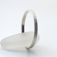 Frosted Sterling Silver Ring