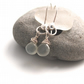 Sterling Silver Wrapped Earrings with Grey Moonstone