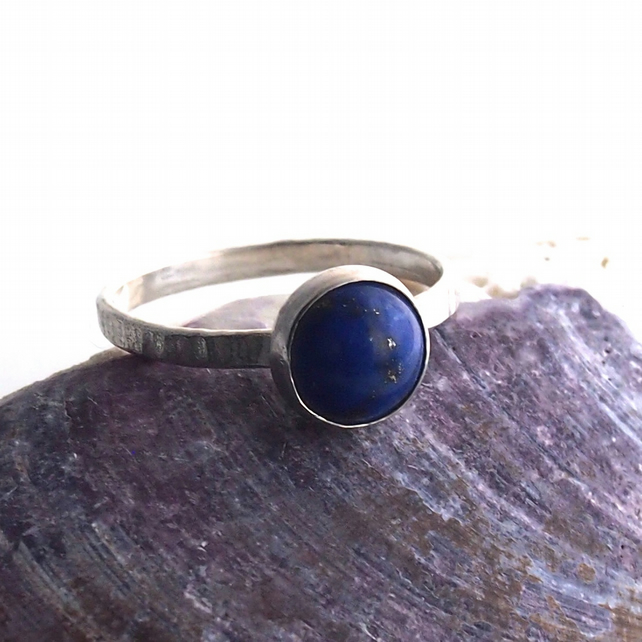 Lapis Lazuli Maxi Stack Sterling Silver Ring