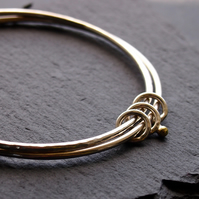 Double Bangle With Gold Dot