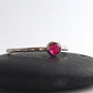 Ruby and Sterling Silver Skinny Ring