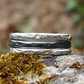 Three Sterling Silver Granite Rings