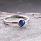 Star Sapphire and Silver Ring