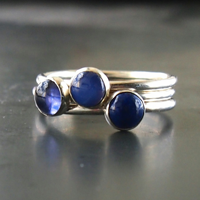 Midnight Star Sterling Silver Rings
