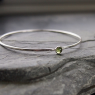 Sterling Silver Bangle with Peridot