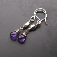 Purple Rain Sterling Silver and  Amethyst Earrings