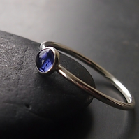 Iolite Sterling Silver Ring.