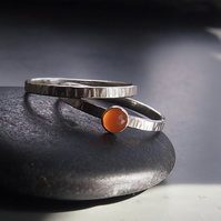 Sterling Silver and Facetted Carnelian Duo