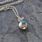 Silver Pebble Necklace with Turquoise