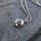 Silver Pebble Necklace with Larimar