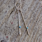 Sterling Silver Sticks and Stones Earrings with Turquoise