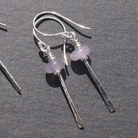 Forged Lantern Earrings with Amethyst
