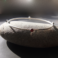 Sterling Silver Orbit Bangle