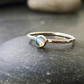 Sterling Silver and Labradorite Skinny Ring