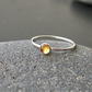 Sterling Silver Skinny Ring With Golden Citrine