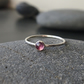 Sterling Silver and Brazilian Amethyst Skinny Ring