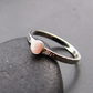 Sterling Silver and Pink Opal Textured Ring