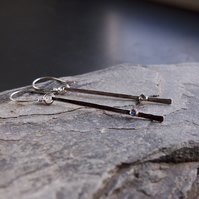 Sterling Sticks and  Stones Earrings with Labradorite