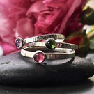 Rose Garden Trio of Sterling Silver Stacking Rings