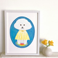 'Cloud Puppy' original framed painting