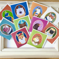Lucky dip of 10 animal greetings cards bundle. SALE!