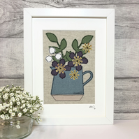 Personalised Flowers in a Jug Picture