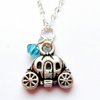 Pumpkin carriage necklace - princess jewellery - disney inspired