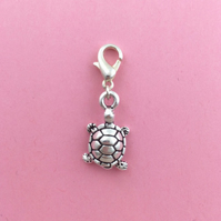 Turtle clip on charm