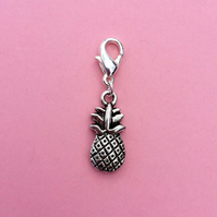 Pineapple clip on charm