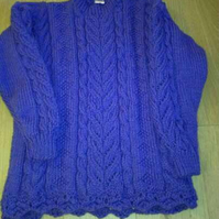 Ladies Chunky knit sweater - made to order