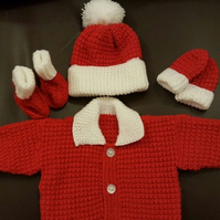 Baby gift set - Jacket,mitts,hat and booties