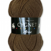 Cygnet aran Yarn - Coffee - 183